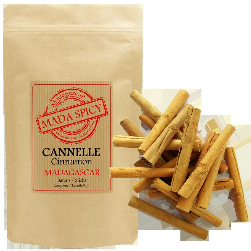 Mada Spicy / Bâtons de Cannelle de Ceylan 8cm / Origine Madagascar