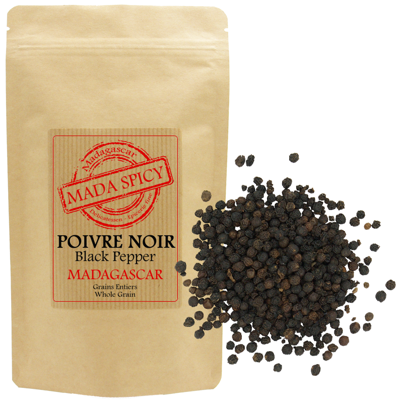 "Mada Spicy / Poivre noir en grains de Madagascar ""Agriculture Durable"""